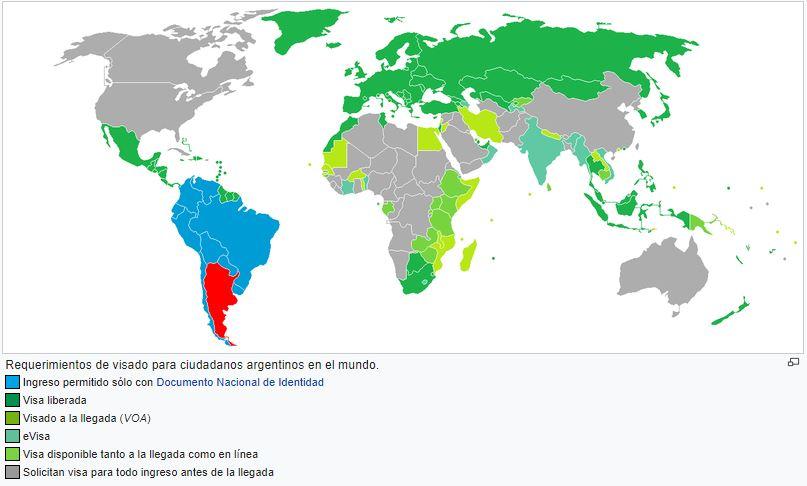 mapa visa argentinos